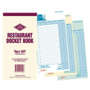 Zions resturant docket book triplicate