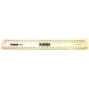 Ruler plastic 30cm clear