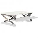 Rapid riser small desk based adjustable workstation 680 x 590mm white