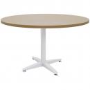 Rapid span 4 star round table white pedestal base 900mm beech
