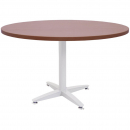 Rapid span 4 star round table white pedestal base 900mm cherry