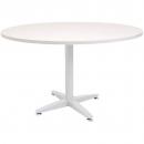 Rapid span 4 star round table white pedestal base 900mm warm white