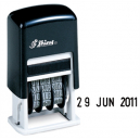 Shiny 9s400 self inking date stamp black 4mm