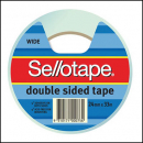 Sellotape 960606 double sided tape 24mm x 33m roll