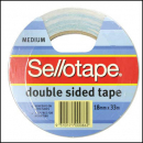 Sellotape 960604 double sided tape 18mm x 33m roll