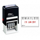 Shiny self inking date stamp with message 'EMAILED'