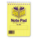 Spirax spiral bound pocket note pad pocket 96 page top opening