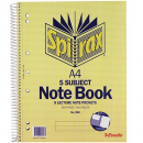 Spirax spiral bound notebook A4 250 pages 5 subject