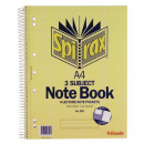 Spirax spiral bound notebook A4 3 subject