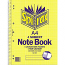 Spirax spiral bound notebook A4 320 pages 4 subject