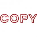 Shiny sen002-2 message stamp outline text 'COPY'