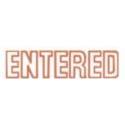 Shiny sen017 message stamp red 'ENTERED'