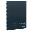 Spirax spiral bound platinum notebook A5 200 pages side opening