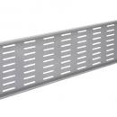 Rapid span modesty panel 1590 x 300mm for 1800mm desk and corner desks brushed silver