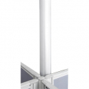 Rapid screen power pole 2.8m kit silver
