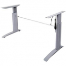 Rapid span electric height adjustable frame (suits 1200 to 1800 wide top) silver