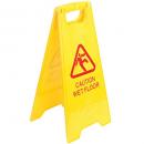 A frame wet floor warning sign