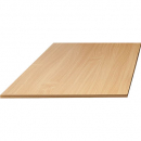 Rapid span table top 1100 x 600mm with cable entries 25mm beech
