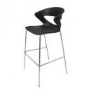 Taurus poly bar stool chrome base black