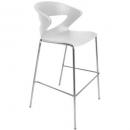 Taurus poly bar stool chrome base white