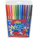 Texta nylorite colouring pens pack 12