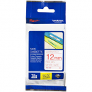 Brother tze-232 laminated labelling tape 12mm red on white