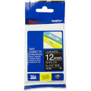 Brother tze-335 laminated labelling tape 12mm white on black