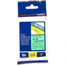 Brother tze-731 laminated labelling tape 12mm black on green