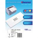 Unistat 38940 multipurpose label 1 per sheet backslit 297 x 210mm box 100