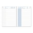 Upward pvc standard diary A5 day to a page black