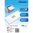 Unistat 38948 multipurpose label 45 per sheet 51x15mm box 100 sheets