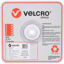 Velcro brand white spots hook only 22mm roll 900