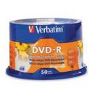 Verbatim dvd-r 4.7gb 16x white printable pack 50
