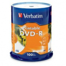 Verbatim dvd-r 4.7gb 16x white printable pack 100
