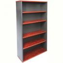 Rapid manager bookcase 4 shelf 900 x 315 x 1800mm appletree/ironstone