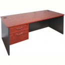 Rapid manager open desk 1500 x 750mm appletree/ironstone