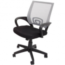 Vesta chair white mesh back with fabric seat black