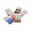 Vista magnetic buttons 30mm pack 8 red
