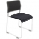 Rapidline wimbledon visitor chair seat cushion black