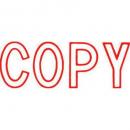 Xstamper 1006r message stamp red 'COPY'