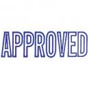 Xstamper 1008 message stamp blue 'APPROVED'