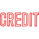 Xstamper 1019 message stamp red 'CREDIT'