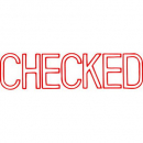 Xstamper 1038 message stamp red 'CHECKED'