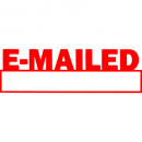 Xstamper 1650 message stamp date red 'EMAILED'