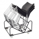 Rapidline stacking chair trolley black
