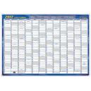 Writeraze framed year planner 700 X 1000mm