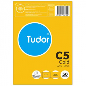 Tudor C5 kraft envelopes pack 50 #140172