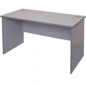 Buy Rapid vibe open desk 1500 x 750 x 730mm grey #RLCDK1575G