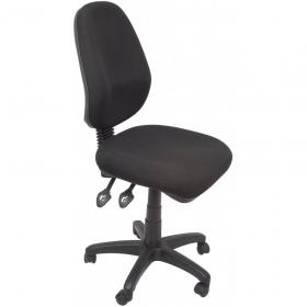 Rapidline ergonomic typist chair high back seat/back tilt black #RLEG100CHBK