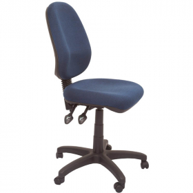 RAPIDLINE ERGONOMIC TYPIST CHAIR HIGH BACK SEAT/BACK TILT NAVY BLUE #RLEG100CHNB
